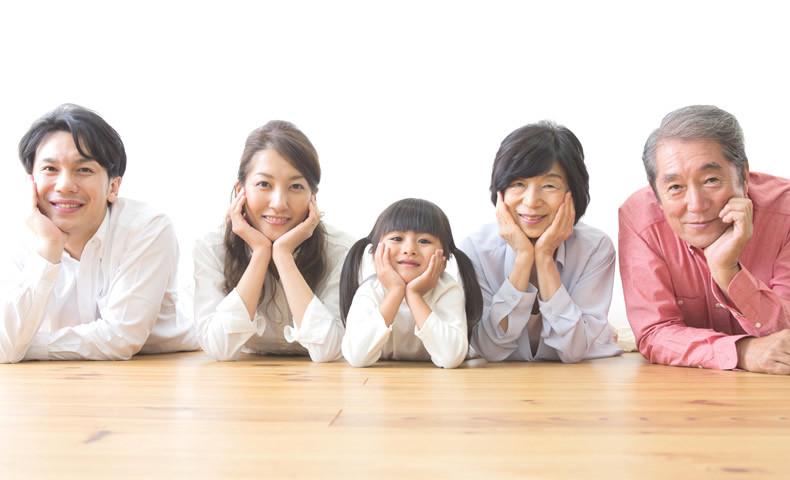 家族の集合写真