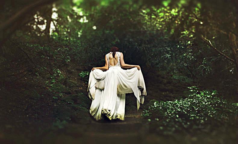 森の中を彷徨う花嫁