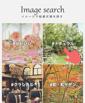 ハナユメの式場検索画面