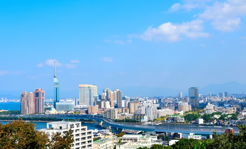 福岡の街並み