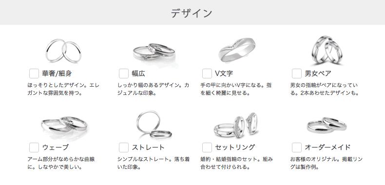 指輪のデザイン